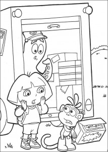 målarbok Dora the Explorer 2 (4)