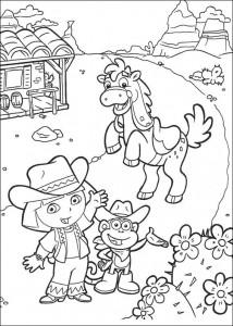 kleurplaat Dora de Verkenner 2 (5)