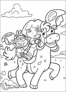 kleurplaat Dora de Verkenner 2 (7)