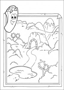 kleurplaat Dora de Verkenner 2 (8)