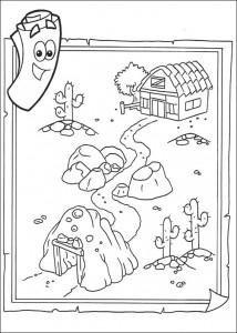 kleurplaat Dora de Verkenner 2 (9)
