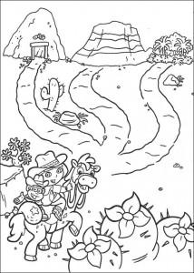 kleurplaat Dora de Verkenner 2 (2)