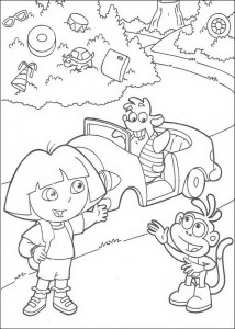 coloring page Dora and Boots (1)