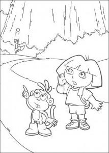 kleurplaat Dora en Boots (8)