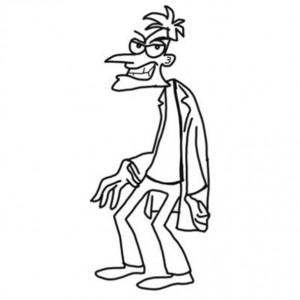 coloring page dr. Doofenschmirtz