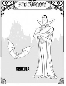 målarbok Dracula 2