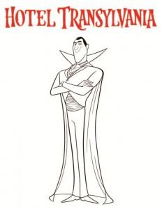 boyama sayfası Drakula