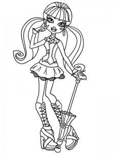 coloring page Draculaura
