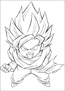 målarbok Dragon Ball Z (20)