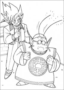 kleurplaat Dragon Ball Z (23)