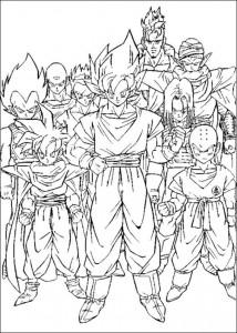 målarbok Dragon Ball Z (28)