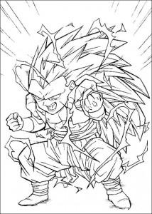 målarbok Dragon Ball Z (32)