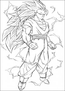 målarbok Dragon Ball Z (34)