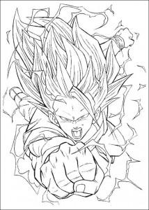 målarbok Dragon Ball Z (37)