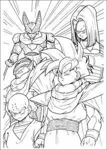 målarbok Dragon Ball Z (42)