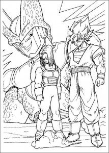 målarbok Dragon Ball Z (43)