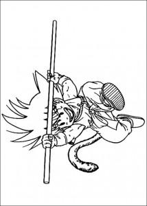 målarbok Dragon Ball Z (46)