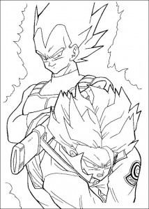 målarbok Dragon Ball Z (50)