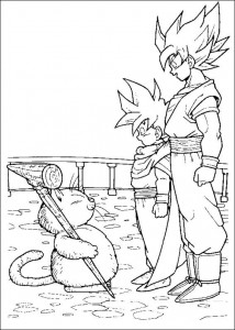 målarbok Dragon Ball Z (54)