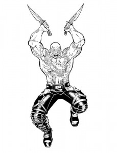 coloring page drax the destroyer