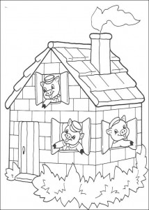 coloring page Three Little Pigs (12)