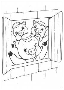 coloring page Three Little Pigs (13)