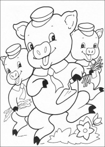 coloring page Three Little Pigs (14)