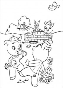 coloring page Three Little Pigs (2)