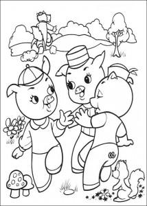målarbok Tre små grisar (3)