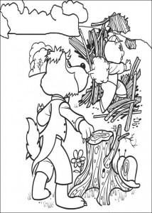 coloring page Three Little Pigs (4)