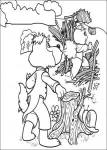 målarbok Tre små grisar (4)