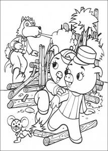 målarbok Tre små grisar (5)
