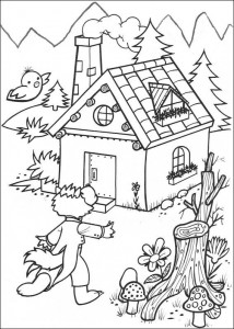 coloring page Three Little Pigs (6)