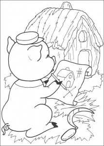coloring page Three Little Pigs (8)
