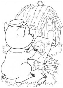 målarbok Tre små grisar (8)