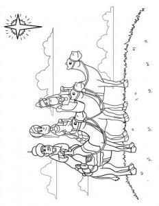coloring page Three kings (1)