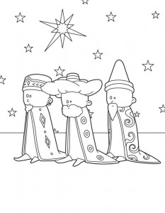 coloring page Three kings (11)