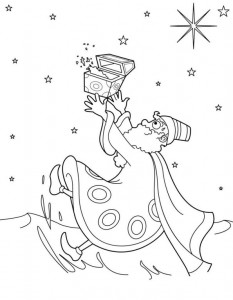 coloring page Three kings (3)