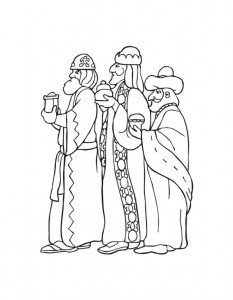 coloring page Three kings (4)