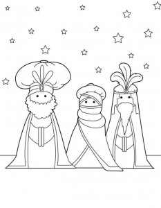 coloring page Three kings (5)