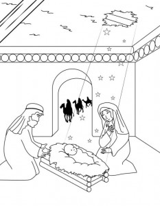 coloring page Three kings (8)