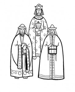 coloring page Three kings