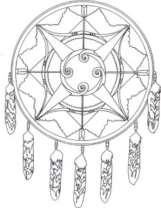 coloring page Dreamcatcher