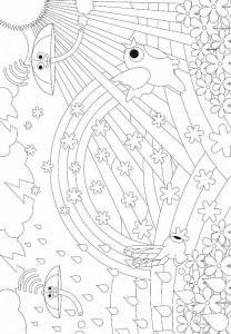 coloring page Droner