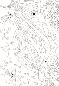 coloring page Drones