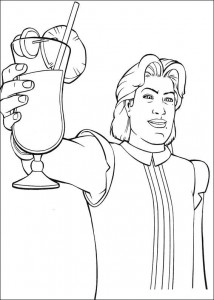 coloring page Dream prince