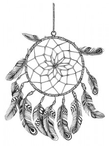 coloring page Dream catchers (1)