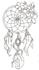 coloring page Dream catchers (12)