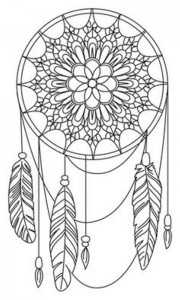 coloring page Dream catchers (14)