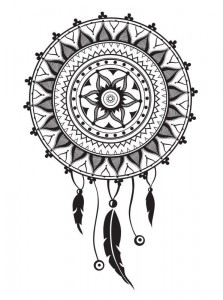coloring page Dream catchers (2)